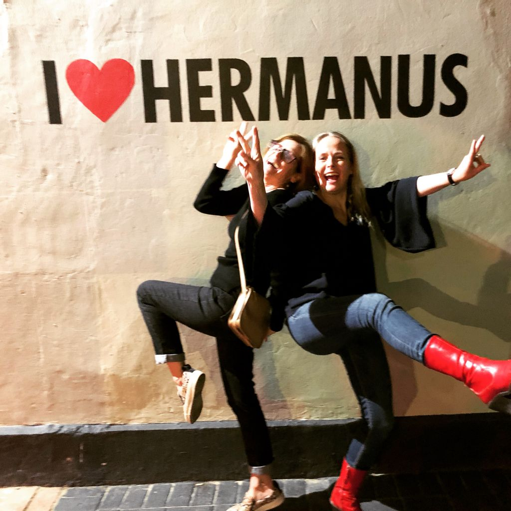 I ❤️ Hermanus painting on white wall, near Cape Town, South Africa