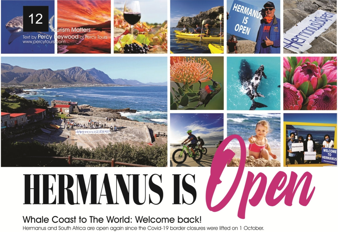 Hermanus is open #hermanusisopen near Cape Town, South Africa